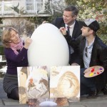 Rasher served with Egg, as artist Rasher calls for 100 fellow artists to join Ireland's BIGGEST EVER egg hunt in aid of the Jack & Jill Foundation and sponsored by Lily O'Brien's